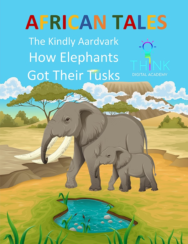 African tale - The Kindly Aardvark - How Elephants Got Their Tusks